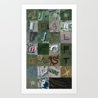 Google Maps Alphabet Art Print