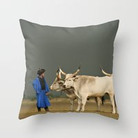 Herdsmen  Throw Pillow