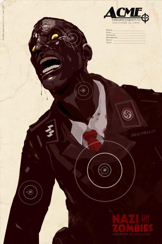 Nazi Zombies - Target Practice Art Print