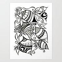 Tuliping Tangle Art Print