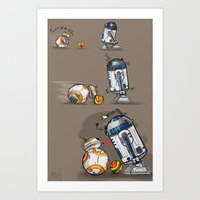 Droid Playtime Art Print