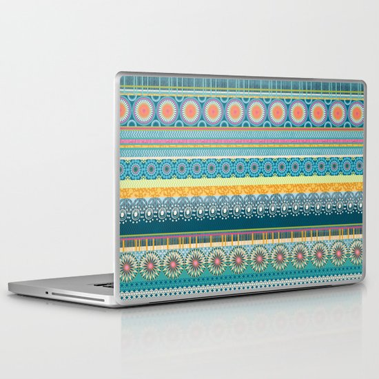 Blue Streaks Laptop & iPad Skin