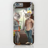 iPhone & iPod Case featuring A Cats Night Out by florever