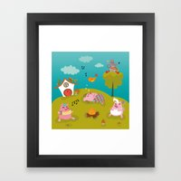 Three Little PIG Framed Art Print