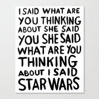 Obi Wan on the mind Canvas Print