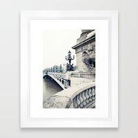 Paris in black and white Framed Art Print