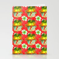 Tropical Christmas Patte… Stationery Cards