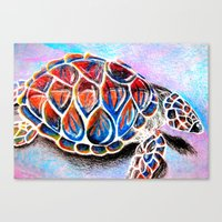 Fire Shell. Canvas Print