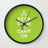 Keep Calm And Craft On Wall Clock