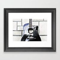 Be Your Song and Rock On in White II Framed Art Print