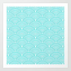 Aqua Waves Art Print