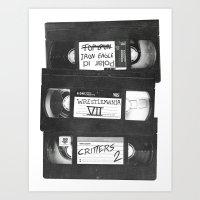 VHS Memories Art Print