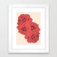 Tattoo Rose | Floral  Framed Art Print