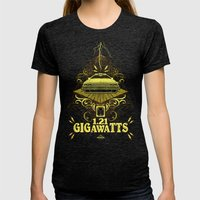 Back to the Future Gigawatts Womens Fitted Tee Tri-Black SMALL