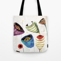 Whimsical Wedding Bouquet Flowers Design Tote Bag