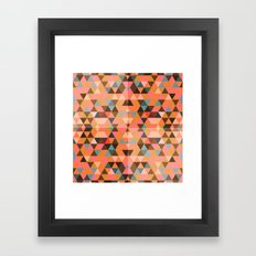 Abstract Triangles. Framed Art Print