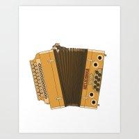 Accordion  Art Print