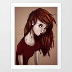 Red Girl Art Print