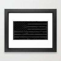 American Brain Flag Framed Art Print