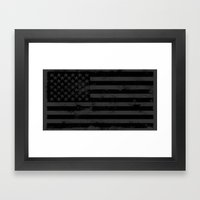 American Brain Flag Framed Art Print