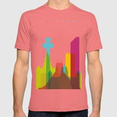 Shapes of Liverpool. Accurate to scale. Mens Fitted Tee Pomegranate SMALL