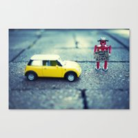 Support Your Local Robot Canvas Print