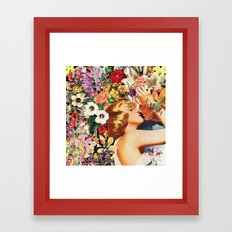 Floral Bed Framed Art Print