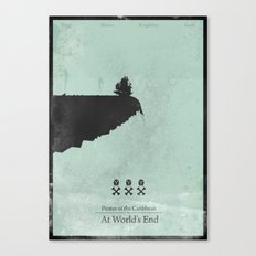 Pirates of the Caribbean 3 - At World's End - minimal poster Canvas Print