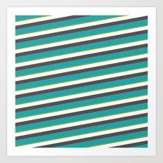 diagonal striped shirt Art Print