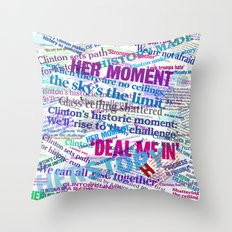 Hillary 2016 Abstract Headline Collage Throw Pillow
