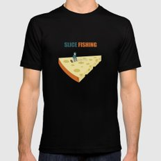 Slice fishing Mens Fitted Tee Black SMALL