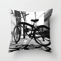 Urban cruiser Throw Pillow
