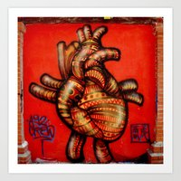 Graffiti Native Heart Art Print