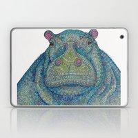 Hippie-Potamus (Blue) Laptop & iPad Skin
