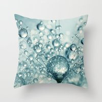 Droplets & Sparkles Throw Pillow