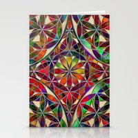 Flower Of Life Variation Stationery Cards