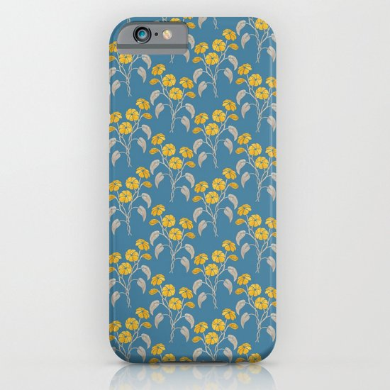 Flowers Blue Pattern iPhone & iPod Case