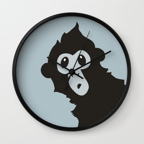 Spider Monkey - Peekaboo! Wall Clock