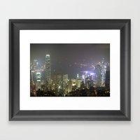 Hong Kong Night View 201… Framed Art Print