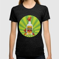 Tequila Time Womens Fitted Tee Tri-Black SMALL