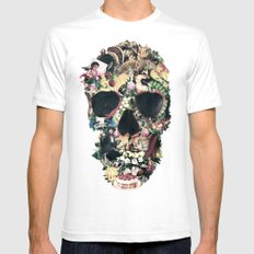 Vintage Skull Mens Fitted Tee White SMALL