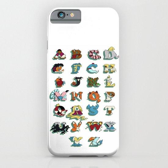 The Disney Alphabet - White Background iPhone & iPod Case