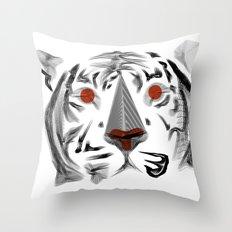 Moirè Tiger Throw Pillow