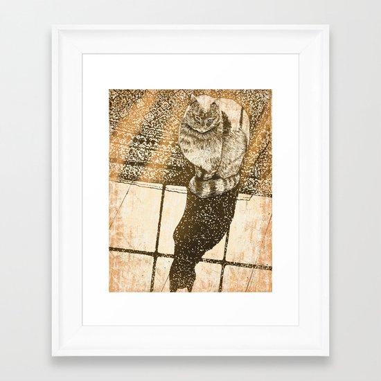 Window Cat Framed Art Print