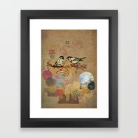 Two Little Birds Framed Art Print