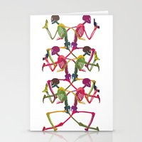 Running Skeleton With Ba… Stationery Cards