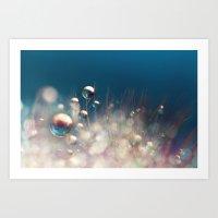Sparkles & Drops Art Print