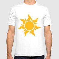 Tangled Rapunzel Sun Logo - Corona Symbol Mens Fitted Tee White SMALL