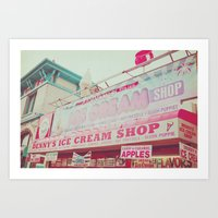 Ice Cream Shop Art Print