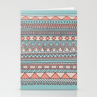 Tribal #4 (Coral/Aqua) Stationery Cards